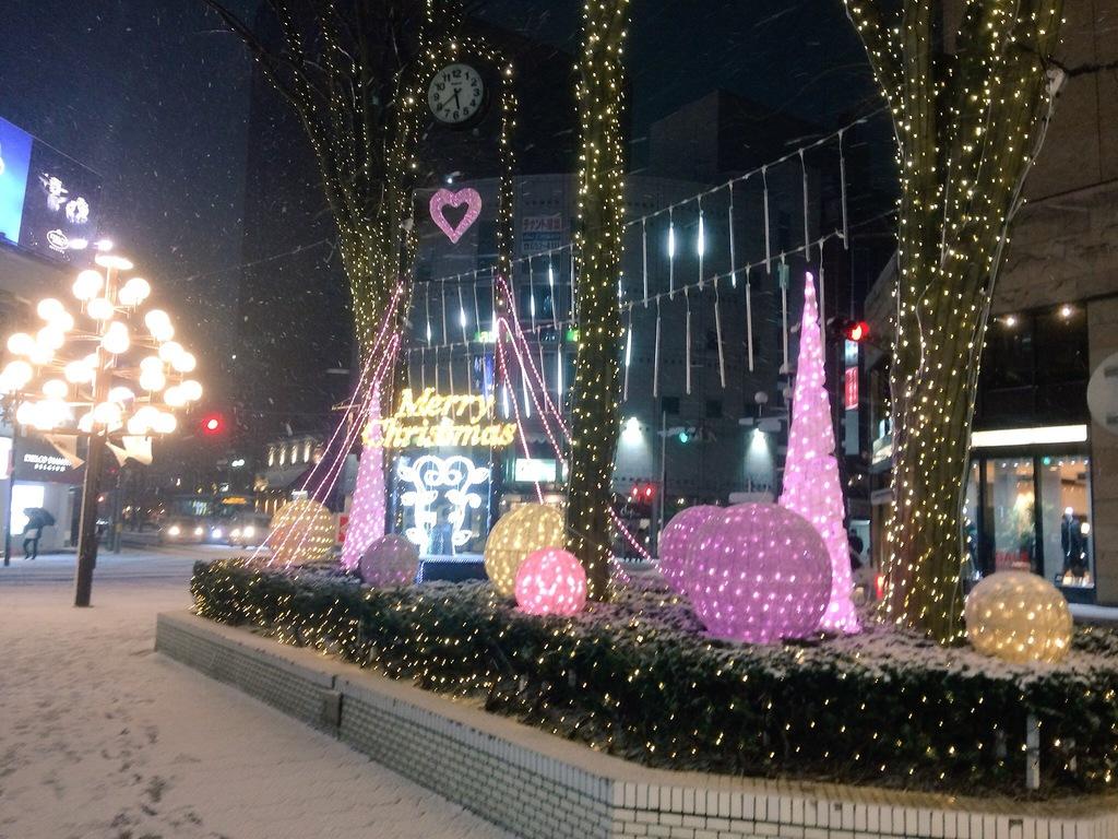 菜園川徳前のクリスマスイルミネーション