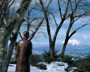 岩山から見た岩手山(啄木望郷の丘)